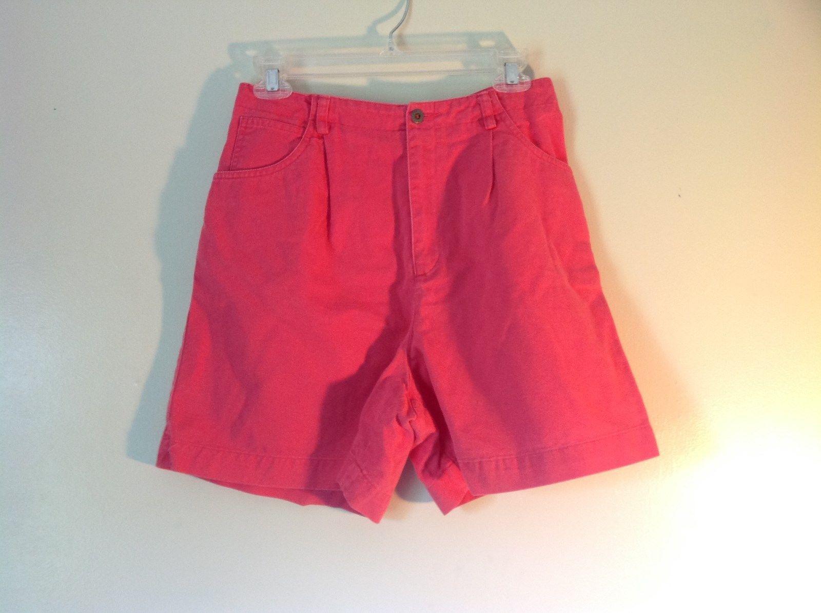 Size 10 Bright Pink Liz Claiborne Liz Sport 100 Percent Cotton Shorts