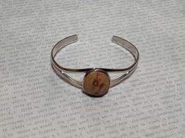 Silver Tone Geo Jewelry Bracelet  with Dark Spots picture jasper