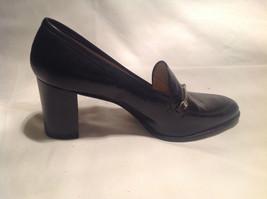 Nine West Black Heels Closed Toe Closed Heel Tan Insole Size 10 Medium image 3