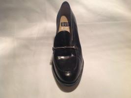 Nine West Black Heels Closed Toe Closed Heel Tan Insole Size 10 Medium image 4
