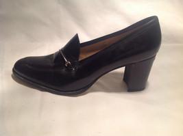 Nine West Black Heels Closed Toe Closed Heel Tan Insole Size 10 Medium image 2