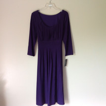 Simple Yet Elegant Three Quarter Length Purple Dress NEW with Tag Size 12