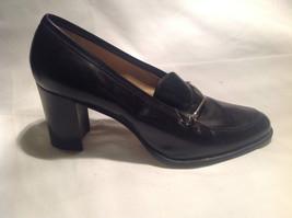 Nine West Black Heels Closed Toe Closed Heel Tan Insole Size 10 Medium image 7