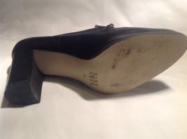 Nine West Black Heels Closed Toe Closed Heel Tan Insole Size 10 Medium image 11