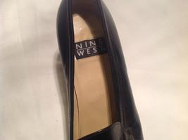 Nine West Black Heels Closed Toe Closed Heel Tan Insole Size 10 Medium image 12