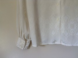 Nilani Vintage Off White Blouse 100 Percent Polyester Button Up Size 12 image 3