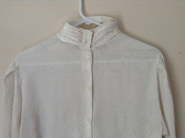 Nilani Vintage Off White Blouse 100 Percent Polyester Button Up Size 12 image 2
