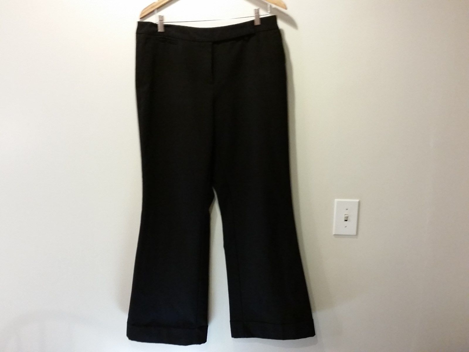 Size 12 Average New York and Company Black Stretch Dress Pants