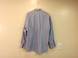 Nordstrom Light Blue Tiny Stripes Long Sleeve Shirt, Size 16/35, 100% cotton image 2