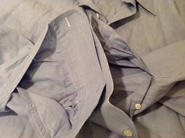 Nordstrom Light Blue Tiny Stripes Long Sleeve Shirt, Size 16/35, 100% cotton image 7