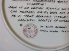 Norman Rockwell Limited Edition Plate Waiting on the Shore Official Seal on Back image 4
