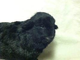 North American Black Sheep Animal Figurine - recycled rabbit fur image 2