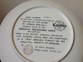 Norman Rockwell Limited Edition Plate Waiting on the Shore Official Seal on Back image 3