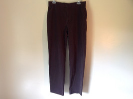 Size 14 Dark Brown Pants by J Crew Slightly Stretchy Button and Zipper Closure image 1
