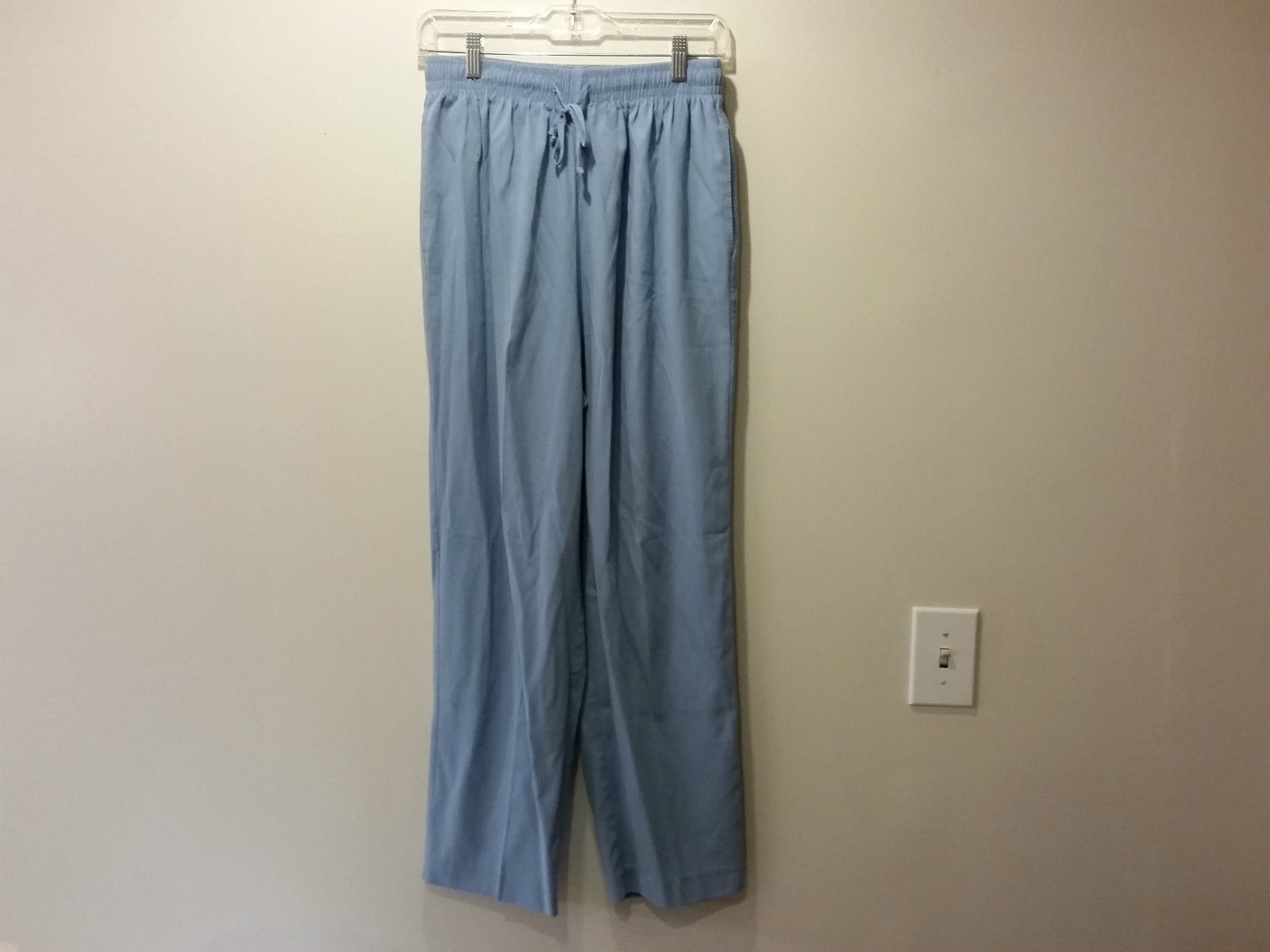 Size 16 Light Blue Stretchy Waist Casual Pants Alfred Dunner Great Condition