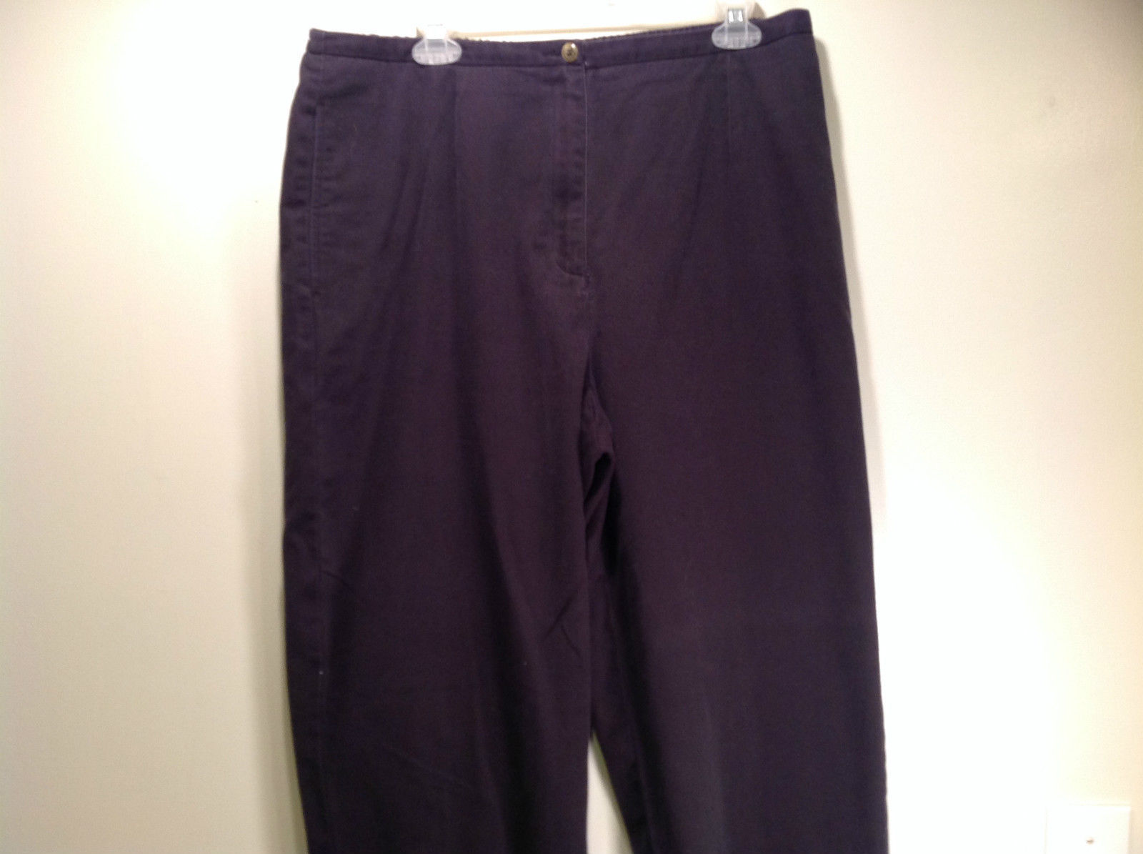 Size 16 Liz Claiborne Charcoal Elastic Waist 100 Percent Cotton Casual Pants