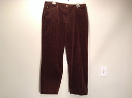 Size 16 Northern Isles Brown Casual Pants 98 Percent Cotton 2 Percent Spandex
