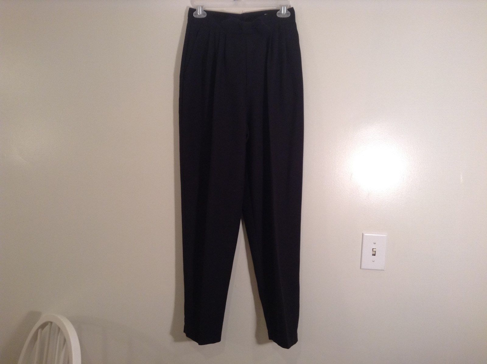 Size 8 Norton McNaughton Black Dress Pants Cute Bow on Front Made in USA