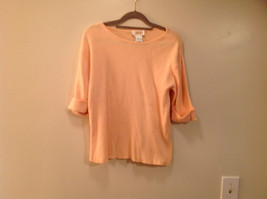 Size Large 100 Percent Cotton Peach Colored Top Excellent Condition Talbots