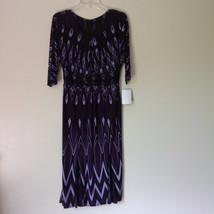 Size 8 NEW with Tag Purple Light Purple and Black Design Dress Zipper