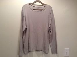Size 1X Liz Claiborne Long Sleeve Gray 100% Cotton Scoop Neck Top Stretchy