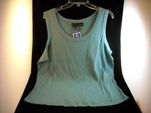 Size 22 24 Woman Venezia Teal Sleeveless Tank Top  NWT
