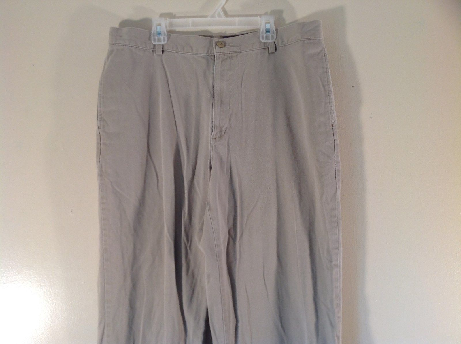 Size 36 Beige 100 Percent Cotton Eddie Bauer Pants Excellent Condition