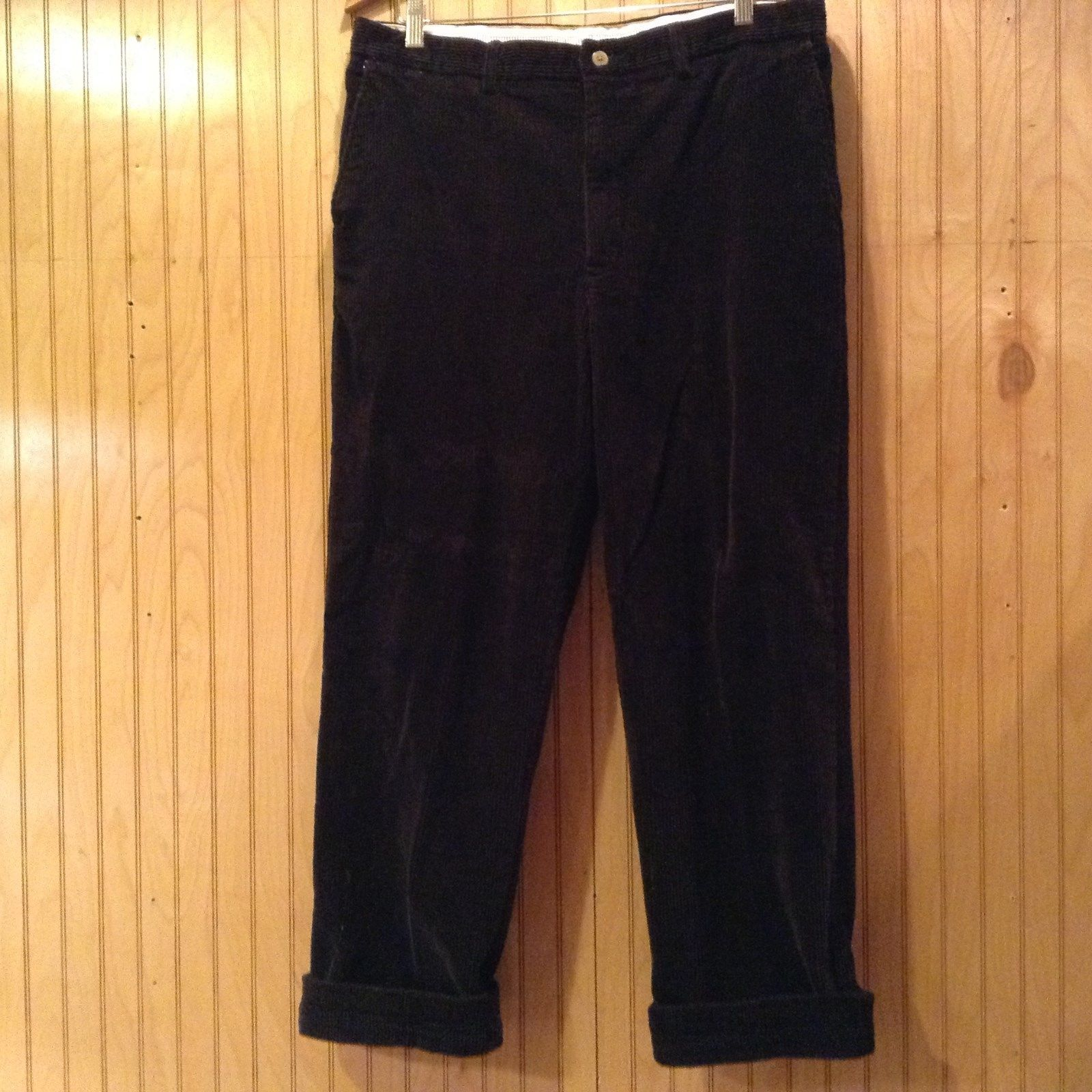 Size 36W by 32L Savane Black 100 Percent Cotton Casual Pants