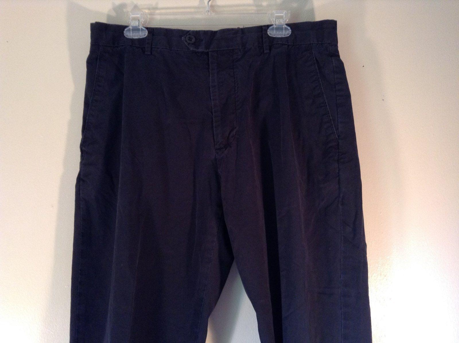 Size 36 by 30 Banana Republic Dress Chino Navy Dress Pants 100 Percent Cotton