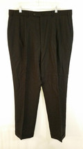 Size 40 Sartoria Menchetti Lined Pleated Front Black Dress Pants Good Condition