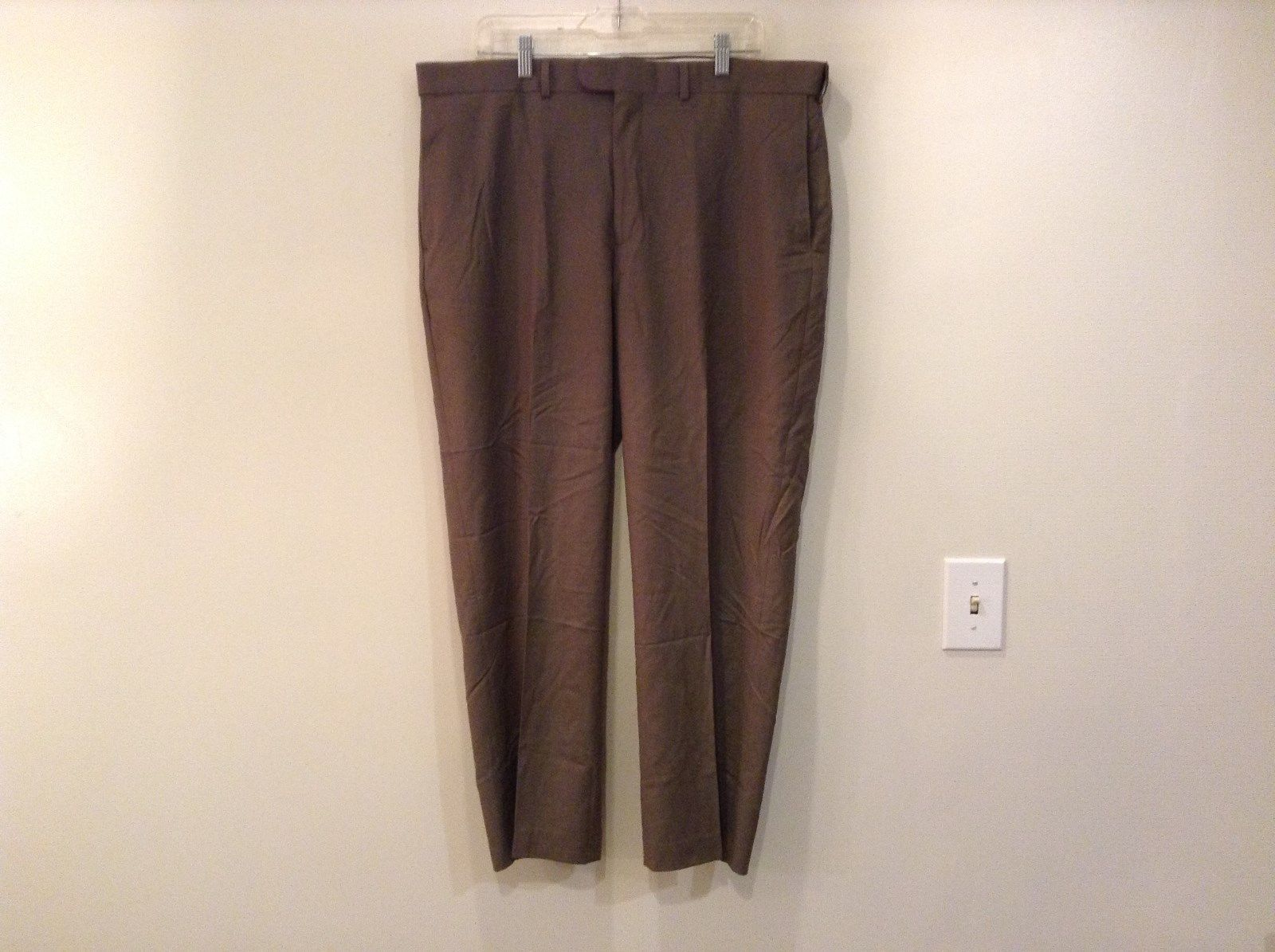 Size 40 Brown Lands End Classic Clothing Pleated Front Dress Pants Pockets