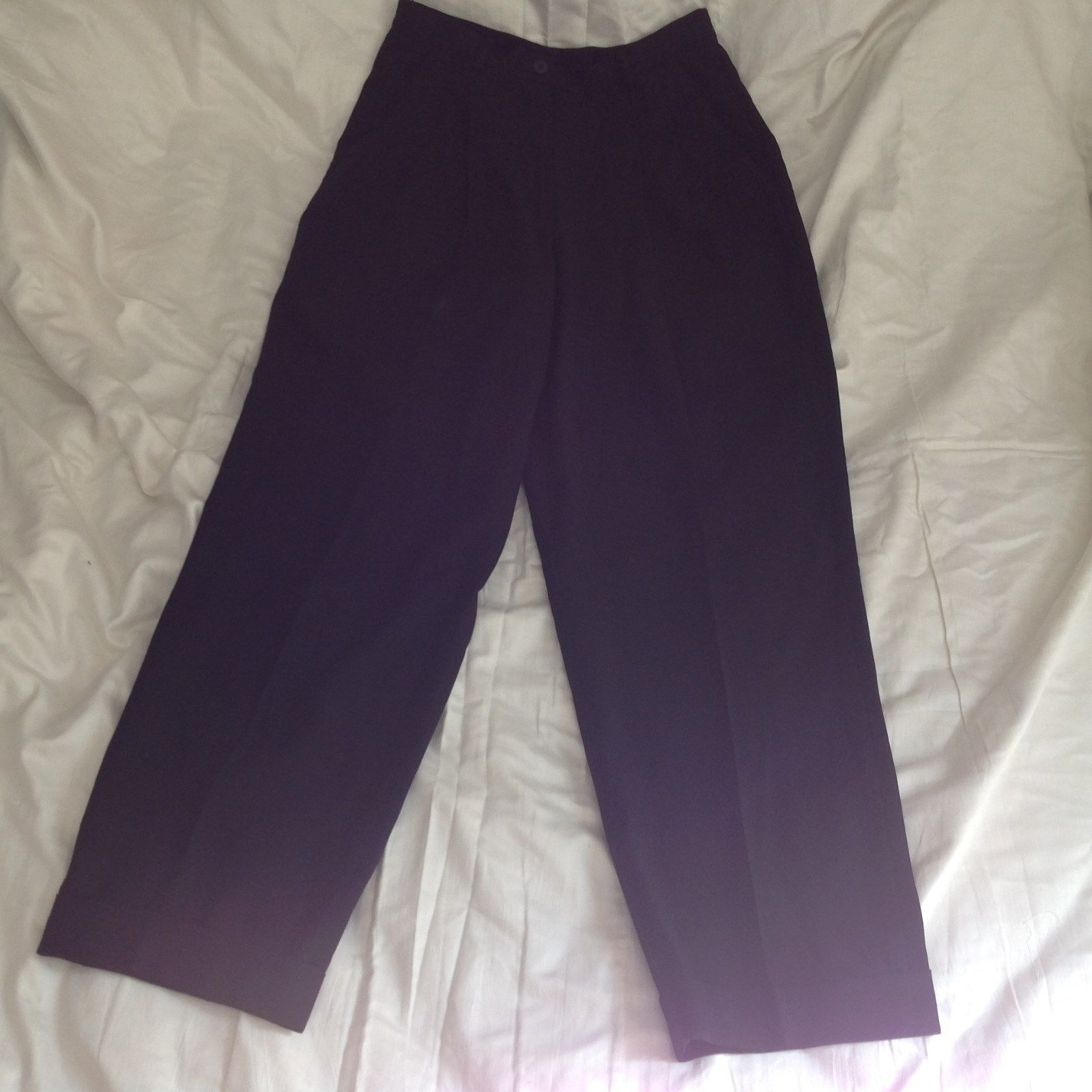 Size 6 DKNY Black Dress Pants 100 Percent Wool Cuffed Bottom