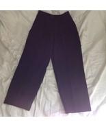 Size 6 DKNY Black Dress Pants 100 Percent Wool Cuffed Bottom - $49.49