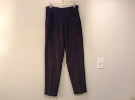 Size 8 Bill Blass Stretch Green Casual Pants Button Zipper Closure Pockets