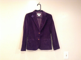 Size 9 Dark Violet Fully Lined Blazer Suede Leather on Elbows by Slices