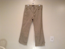 Size 8 Tall New York and Company Khaki Capri Pants Button Zipper Closure Pockets