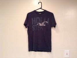 Size M 100 Percent Cotton Dark Blue Graphic Short Sleeve T Shirt by Hollister