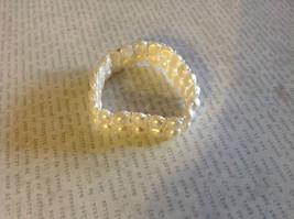 Pretty Stretchy White Pearl Bracelet image 4