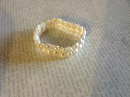 Pretty Stretchy White Pearl Bracelet image 2