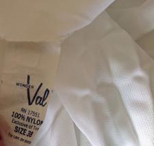 Pretty White Slip with Bottom and Top Design 100 Percent Nylon Size 38 image 10