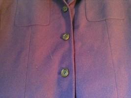 Pure Wool Purple Blazer Jacket by Amanda Smith Padded Shoulders 4 Button Closure image 2
