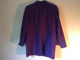 Pure Wool Purple Blazer Jacket by Amanda Smith Padded Shoulders 4 Button Closure image 5