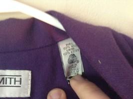 Pure Wool Purple Blazer Jacket by Amanda Smith Padded Shoulders 4 Button Closure image 4