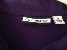 Purple Button Down Long Sleeve Croft and Barrow Shirt Made in China Size XL image 2