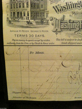 Antique 1894 receipt Washington Baking Powder Co Newburgh New York framed image 4