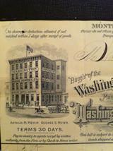 Antique 1894 receipt Washington Baking Powder Co Newburgh New York framed image 3