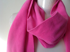 Old Navy Pretty Pink Tassle Fleece Scarf 68 Inches in Length image 2