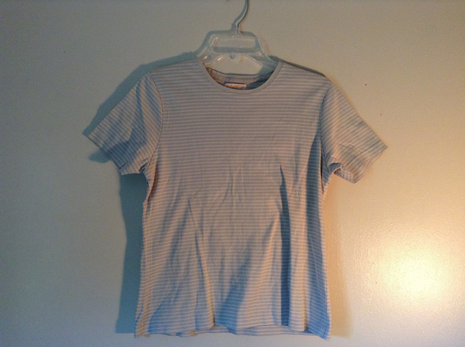 Size Small White Striped Brooks Brothers Short Sleeve Shirt