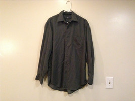 Size Medium Long Sleeve Button Up Front Nautica Dark Gray Casual Shirt - $24.74