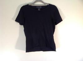 Size Small August Silk Blend Black Stretch Short Sleeve T Shirt Thin Mat... - $34.64